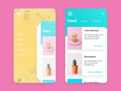 Nutrition Delivery UI