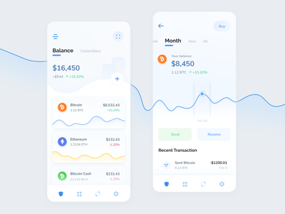 Trust Wallet Refresh ux ui trust wallet crypto bitcoin ethereum currency crypto wallet app mobile data chart cryptocurrency banking blockchain