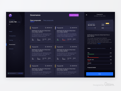 Blockchain Governance Experience Redesign - Lunie.io voting ux ui mobile ledger governance ethereum data currency crypto wallet cryptocurrency crypto blockchain bitcoin web app app