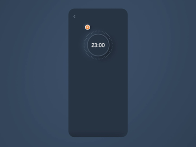 IoT App - Setting Sleep Schedule interaction minimal ux ui temperature skeumorphic night mode mobile iot internet of things device app design dark theme dark mode controller concept clean app