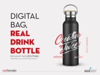 Digital Ad for Red Tomato bottle drink promo advert advertising design