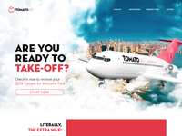 Tomato Air Landing Page marketing campaign webdesign website design