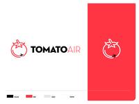 Tomato Air Logo logo branding design branding and identity branding idenitity logo design design