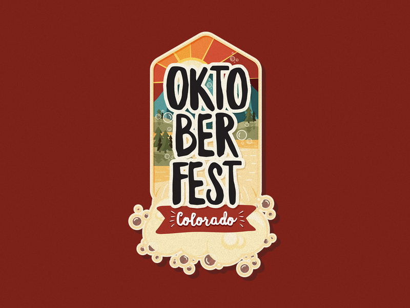 Oktoberfest Badge oktoberfest colorado illustration badge logo design design