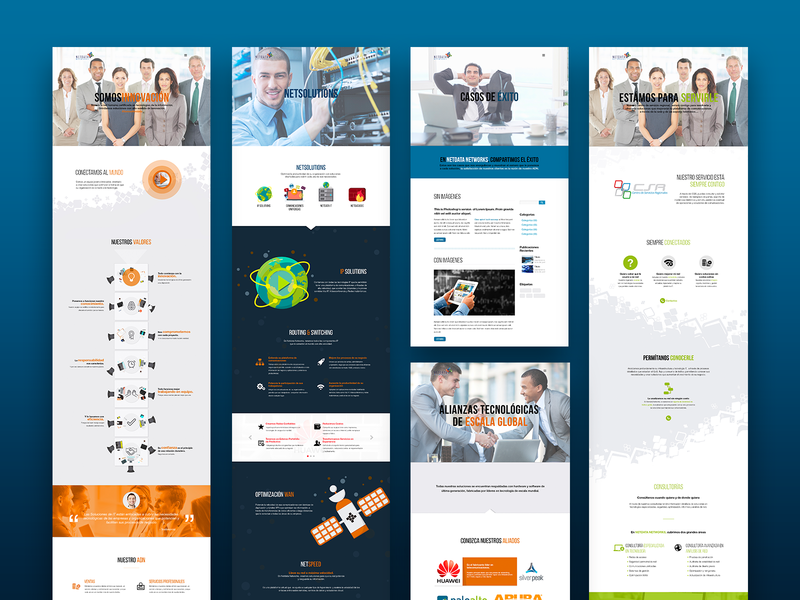 Netdata Networks Website corporate website ui design website website design ui design