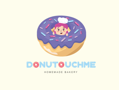 Doughnut Branding Logo logo icon typography design branding vector illustration