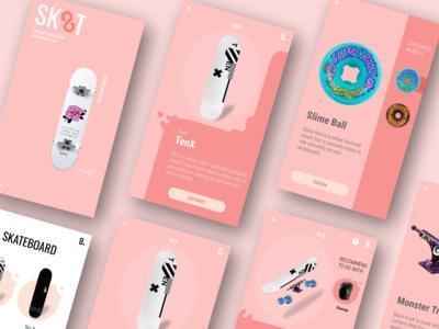 Skate App Design appdesign app mobile ui mobileapplication mobileapp design ux ui