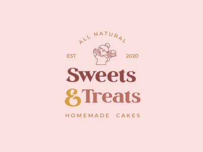 Sweets & Treats Logo graphic design logodesign logo design branding