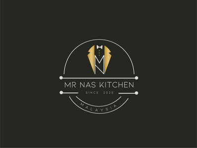 Mr Nas Kitchen Logo Design typography graphic design vector logo branding design