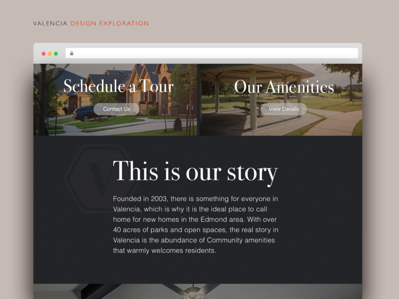 Residential Community Design Exploration redesign page layout neighborhood houses community