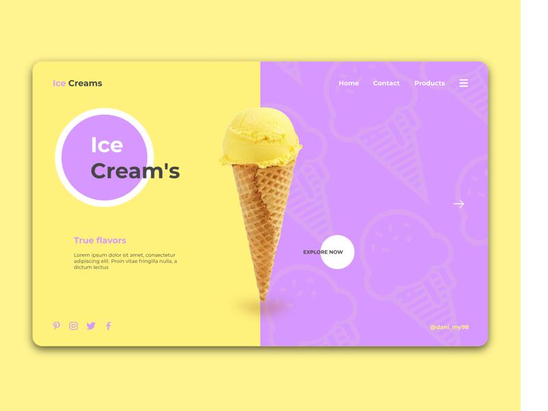 Ice Cream branding illustration web ux ui uidesign webdesign uxdesign uiux gravit designer design