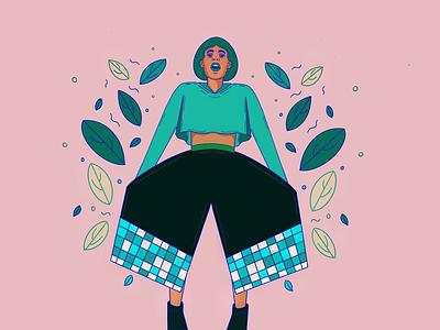 08/28 Inspired by Fashion woman character fashion ipadpro illustration blackart procreate