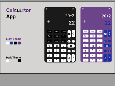 CALCULATOR APP flat illustration design figma icon minimal app ui ux design
