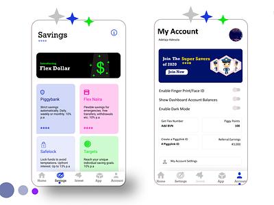 Piggyvest ui ux app design mobile