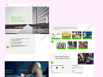 UI Design for an Investment company web minimal flat illustration design figma branding ui ux design