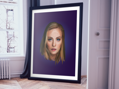 Low Poly Portrait polygon polyart lowpolyart low-poly low poly lowpoly artwork