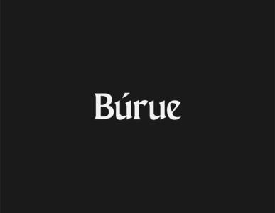 The Burue Logotype sans serif sans display custom font font typeface logo design logo logotype illustration