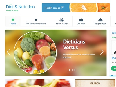Diet and Nutrition Homepage diet nutrition health center