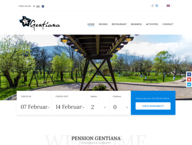 Hotel Website pension hotel