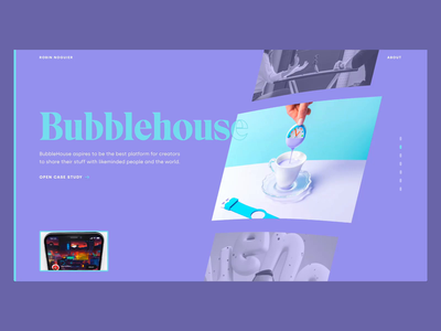🏠️ Home Slider motion transition animation portfolio preview webgl projects slider home