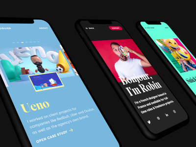 Portfolio Mobile 📱 colorful mobile ui gallery slider responsive mobile portfolio