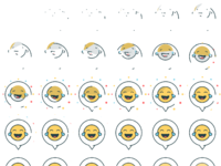 3 bubble emoji
