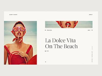 Elena Iv-Skaya Portfolio is LIVE ! 📷 webdesign transition wipe cover photographer photography hold and drag drag fashion loader parralax photo portfolio animation