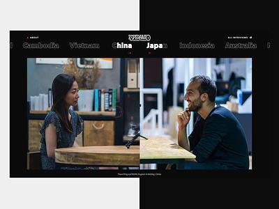 Talking Slider 🎤 photo transition animation travel world esperanto masking mask slider