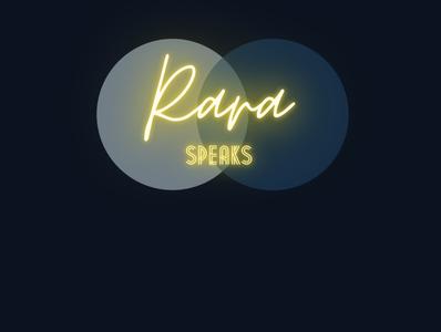 Rara Speaks logo graphic designer design branding virtual assistant freelancer