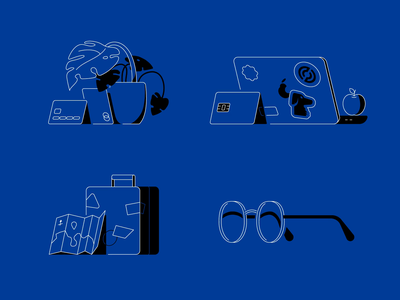 Straal 2020 Website icons checkout mac landing set docs glasses plugin plant construction travel stats card credit building stroke lineart vector illustration flat icon