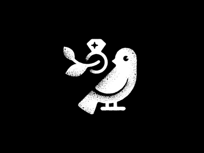Boska Bijoux icon bling church logo bijoux christian luxury peace dove ring diamond bird