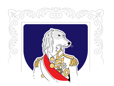 True nature 🐕 flat pet lord lineart sir icon illustration stroke frame hound saluki portrait
