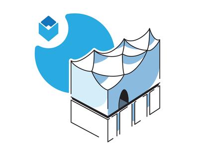 Elbphilharmonie philharmonic isometric building landmark location indoor illustration icon hamburg architecture