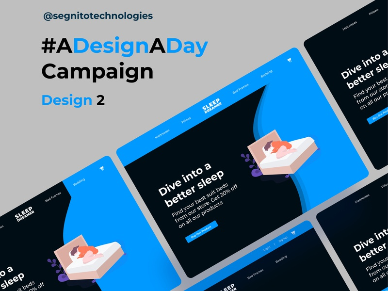 ADesignADay Campaign - Design 2 - A Landing Page Hero Section
