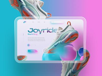 Nike Joyride ui ux uxui shoes app nike shoes nike