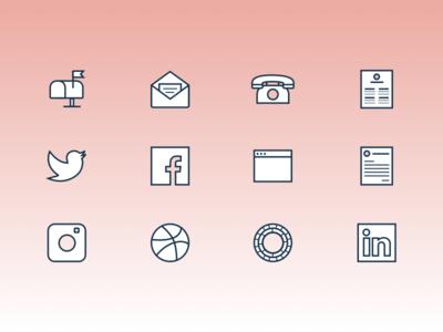 Contact Me Icon Set social media logos links contact icons icon icon set
