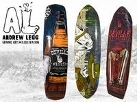 Wild West Series for Deville Skateboards