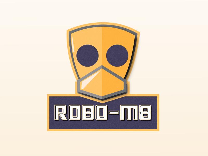 RoboM8 logodesign toy animated typography logo branding vector art illustration design colour vector