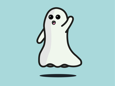 Ghosty Boi simplistic spooky halloween ghost illustrator