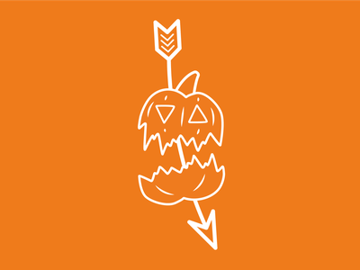No pumpkins allowed!! simplistic minimal 2d illustrator illustration flat spooktober halloween pumpkin