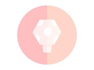 Mushroom peach minimal simple graphic illustration illustrator mushroom