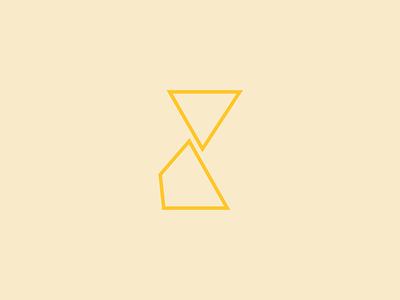 Hourglass  monotone flat line illustrator icon logo