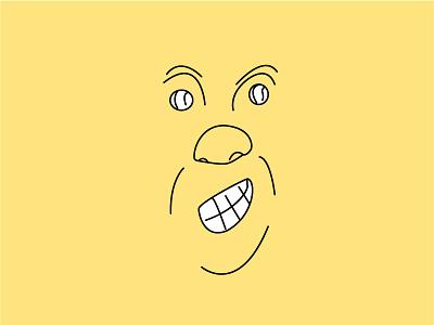 Smiley illustration face vector sketch