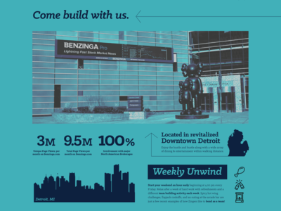 Benzinga Summer/Fall Intern Advertisement