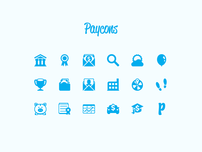 Paycons icons glyph font paycons bank badge search dream balloon goal company savings invest loan