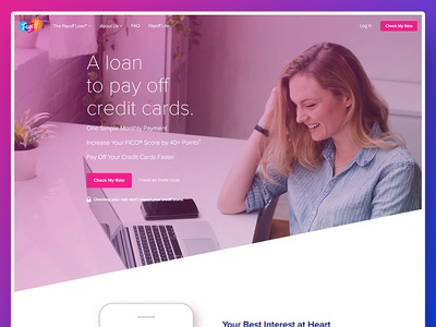 New Payoff Home Page responsive payoff home page homepage app gradient landing page marketing site