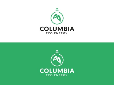 COLUMBIA ECO ENERGY LOGO DESIGN modern logo eco friendly green light bulb logo abstract logo green logo eco logo logofolio simple logo graphic design branding design creative logo logo designer logo mark brand identity minimalist logo logo branding logo design