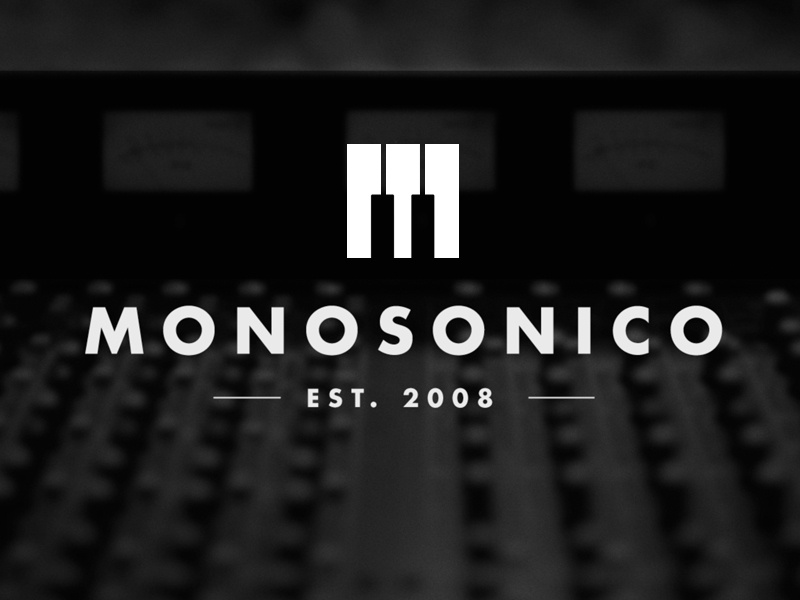 Monosonico design branding logo music type piano identity