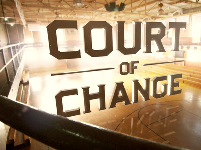 Court of Change tv motion 3d type typography type basketball sports art direction design