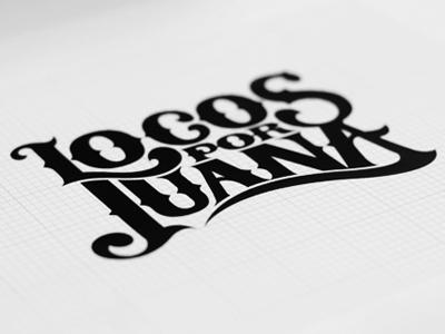 Locos Por Juana identity logo music bands illustration